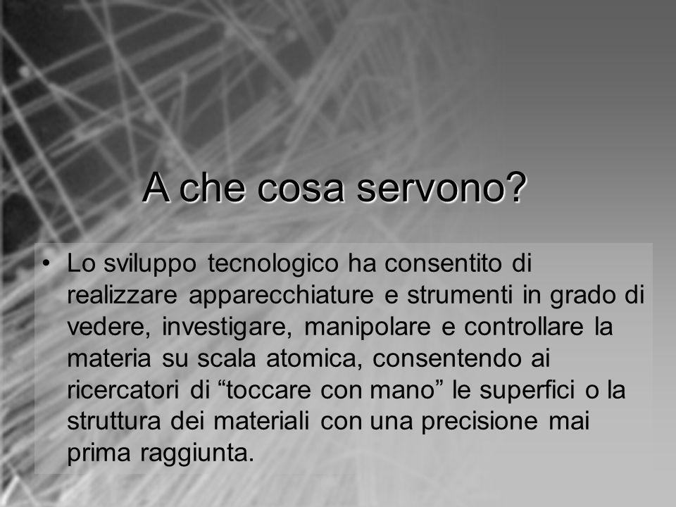 Lo sviluppo tecnologico ha consentito di realizzare apparecchiature e strumenti in grado di vedere, investigare, manipolare e controllare la materia s
