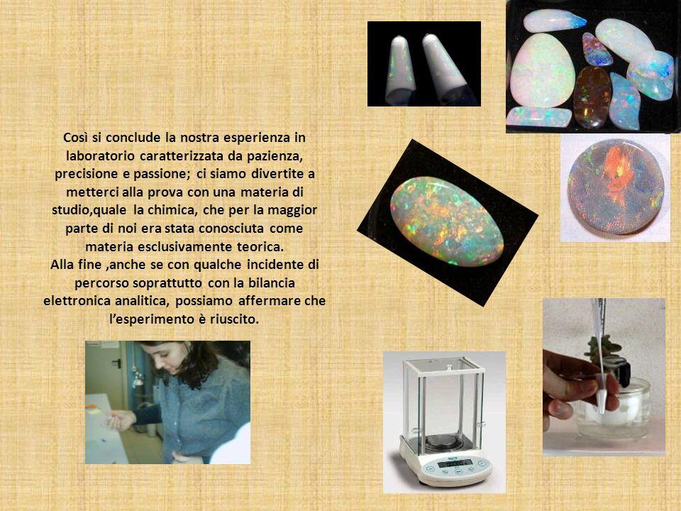 Così si conclude la nostra esperienza in laboratorio caratterizzata da pazienza, precisione e passione; ci siamo divertite a metterci alla prova con u