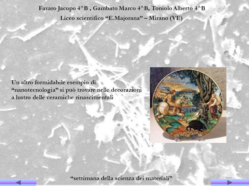 Favaro Jacopo 4^B, Gambato Marco 4^B, Toniolo Alberto 4^B Liceo scientifico E.Majorana – Mirano (VE) settimana della scienza dei materiali Un altro fo