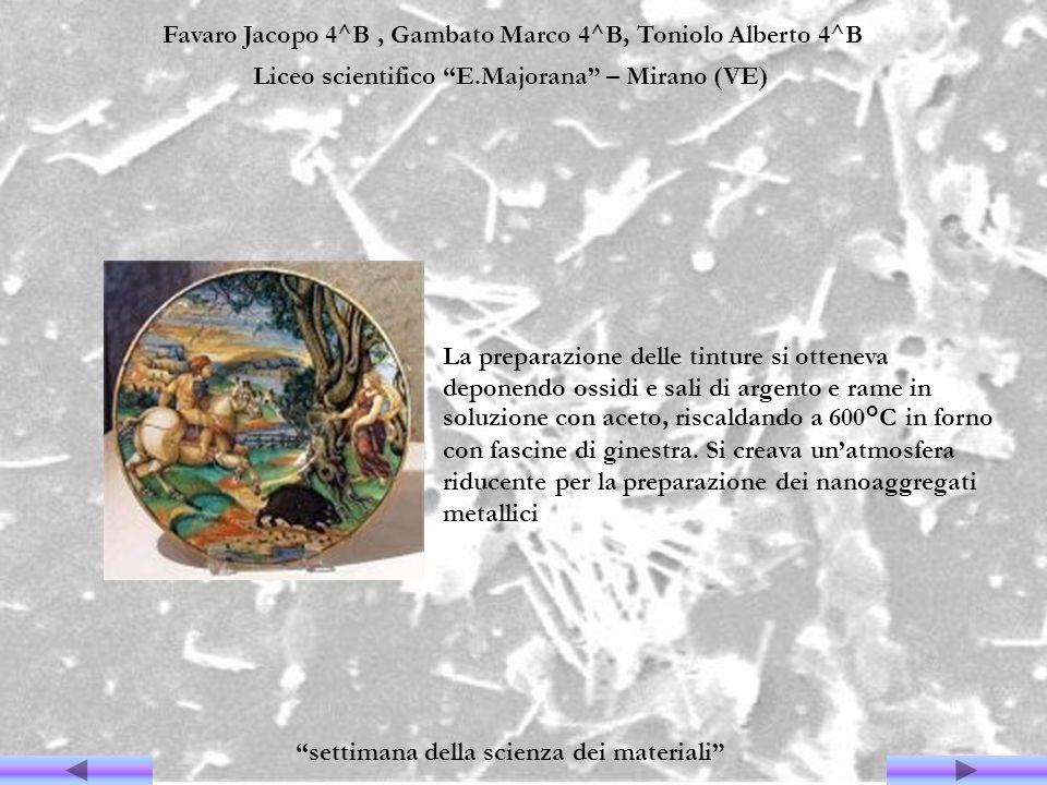 Favaro Jacopo 4^B, Gambato Marco 4^B, Toniolo Alberto 4^B Liceo scientifico E.Majorana – Mirano (VE) settimana della scienza dei materiali La preparaz