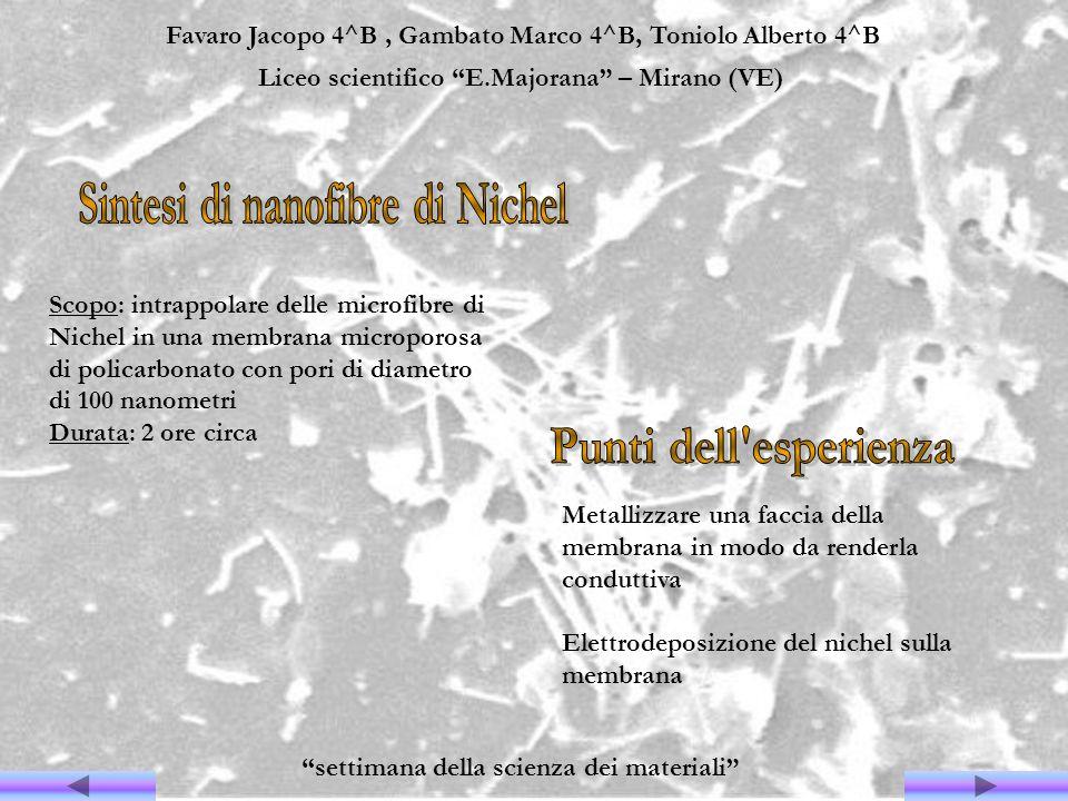 Favaro Jacopo 4^B, Gambato Marco 4^B, Toniolo Alberto 4^B Liceo scientifico E.Majorana – Mirano (VE) settimana della scienza dei materiali Scopo: intr