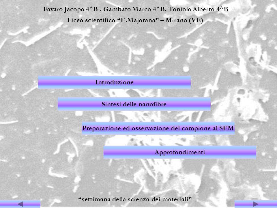 Favaro Jacopo 4^B, Gambato Marco 4^B, Toniolo Alberto 4^B Liceo scientifico E.Majorana – Mirano (VE) settimana della scienza dei materiali Introduzion