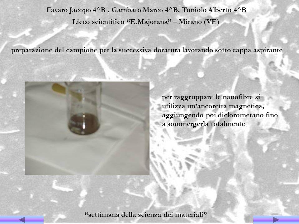 Favaro Jacopo 4^B, Gambato Marco 4^B, Toniolo Alberto 4^B Liceo scientifico E.Majorana – Mirano (VE) settimana della scienza dei materiali per raggrup
