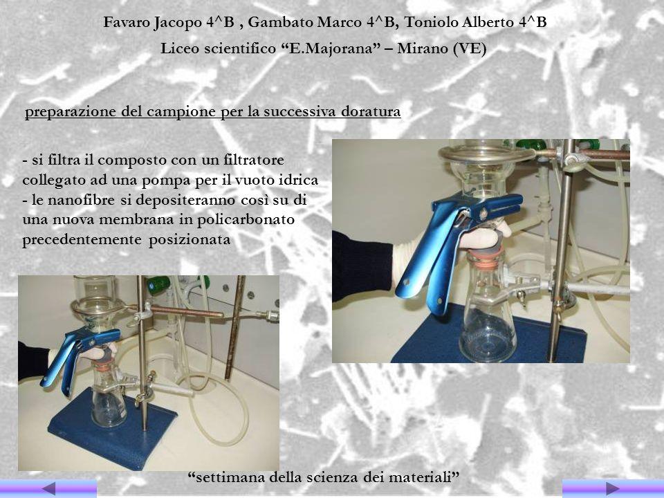 Favaro Jacopo 4^B, Gambato Marco 4^B, Toniolo Alberto 4^B Liceo scientifico E.Majorana – Mirano (VE) settimana della scienza dei materiali - si filtra
