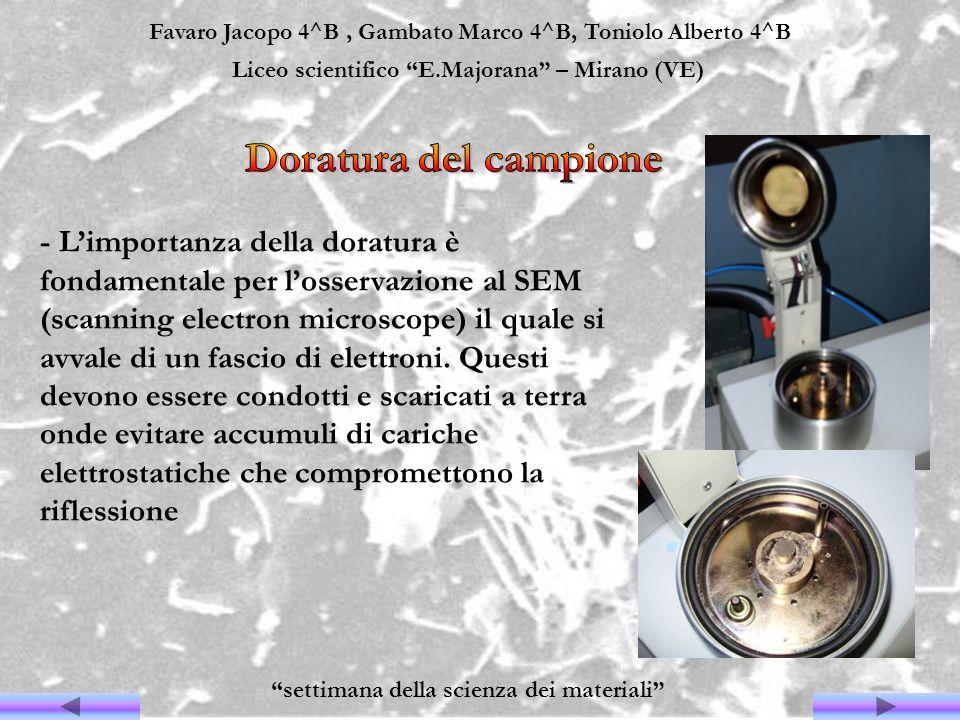 Favaro Jacopo 4^B, Gambato Marco 4^B, Toniolo Alberto 4^B Liceo scientifico E.Majorana – Mirano (VE) settimana della scienza dei materiali - Limportan