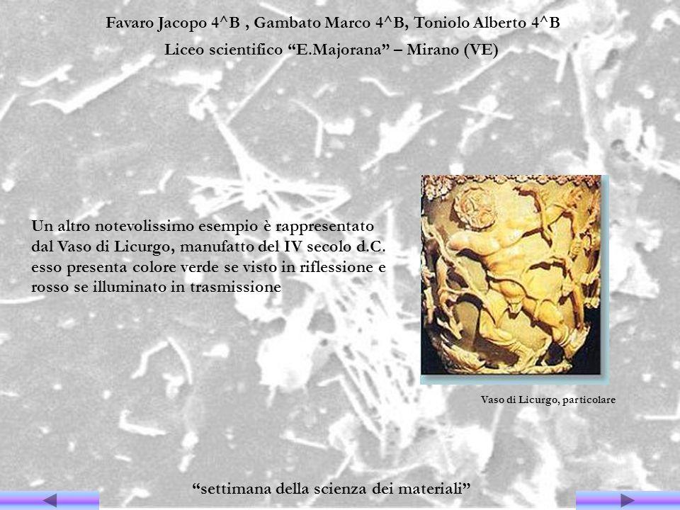 Favaro Jacopo 4^B, Gambato Marco 4^B, Toniolo Alberto 4^B Liceo scientifico E.Majorana – Mirano (VE) settimana della scienza dei materiali Un altro no