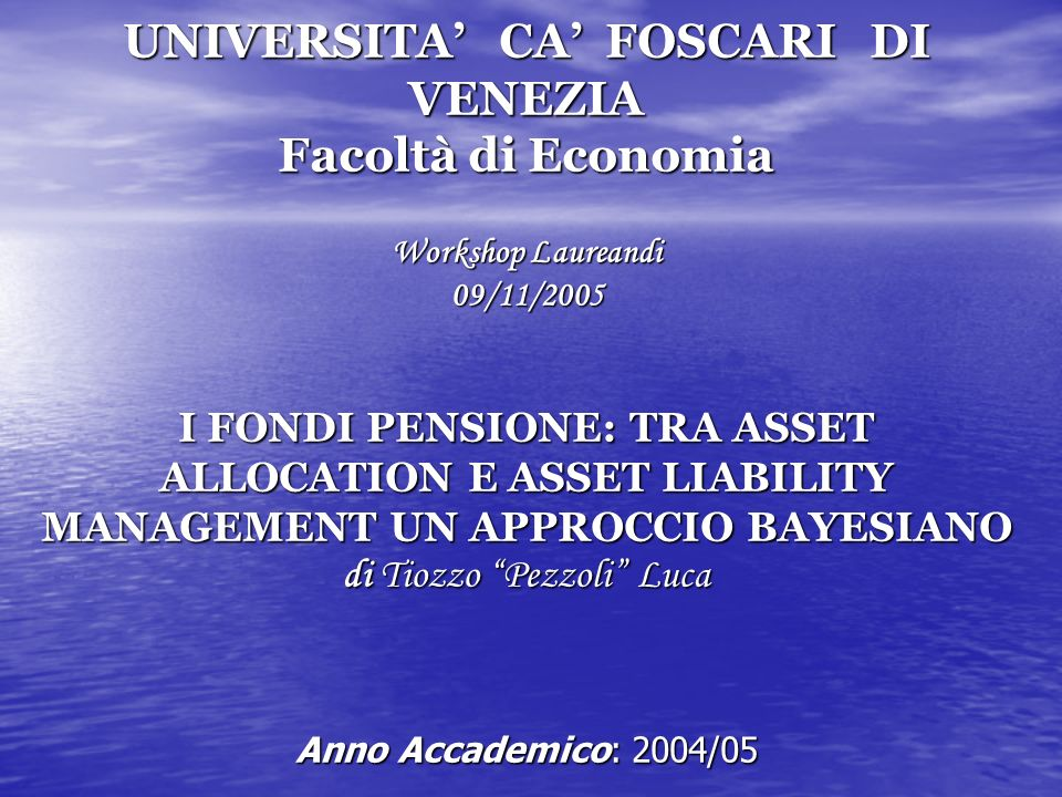 ANALISI EMPIRICA e EMPIRICO/TEORICA Modello lineare di regressione Modello lineare di regressione Variabili esplicative del modello Variabili esplicative del modello costante Stock returns ritardati dividend price ratio yield spread bond return serie tresury bill return serie