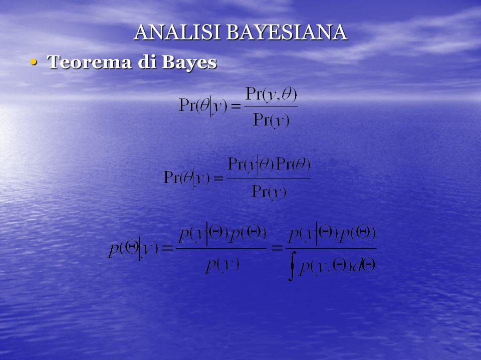 ANALISI BAYESIANA Teorema di Bayes Teorema di Bayes