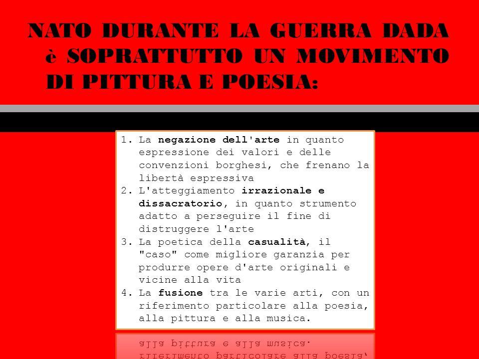 Tra sogno provocazione e ironia Copertina del numero unico Della rivista dada Cabaret Voltaire Con la fondazione del Cabaret Voltaire A Zurigo nasce, il 5 febbraio del 1916, Il movimento Dada