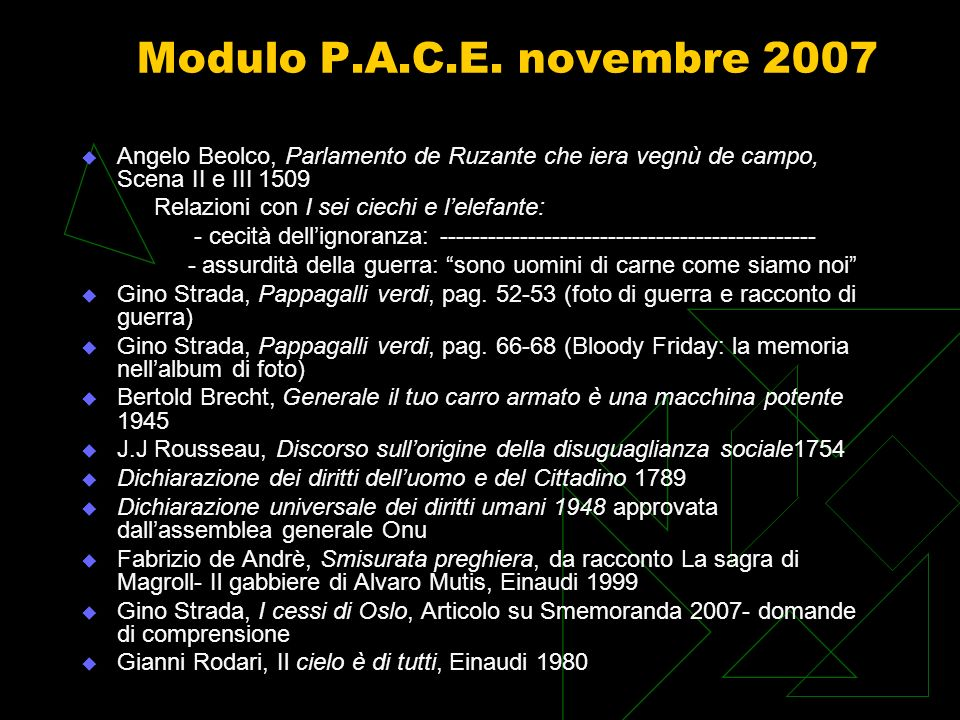 Modulo P.A.C.E.