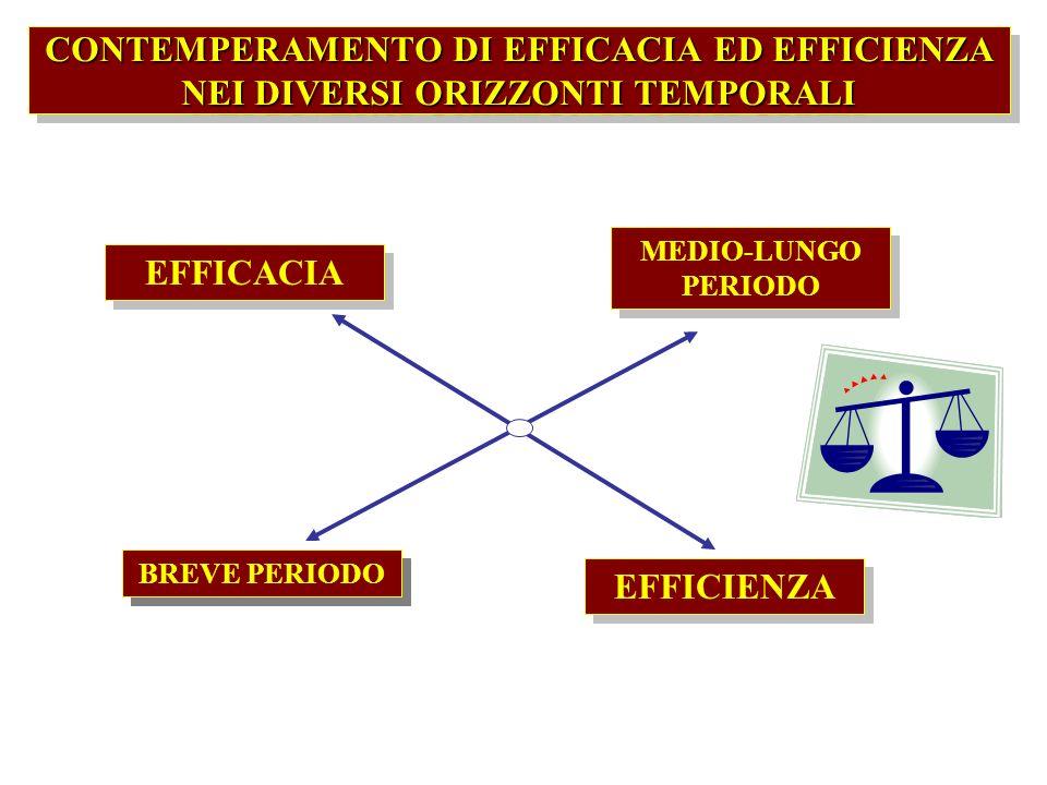 Gli strumenti diretti a guidare lattività dellente devono cogliere le diverse dimensioni, armonizzandole attraverso una loro considerazione nellambito di un quadro unitario EFFICIENZAECONOMICA EFFICACIAACCADEMICA