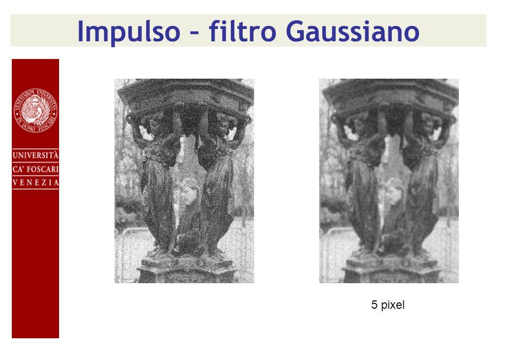 Impulso – filtro Gaussiano 5 pixel