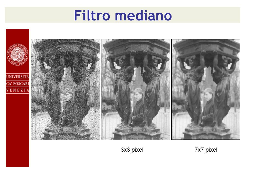 Filtro mediano 3x3 pixel7x7 pixel
