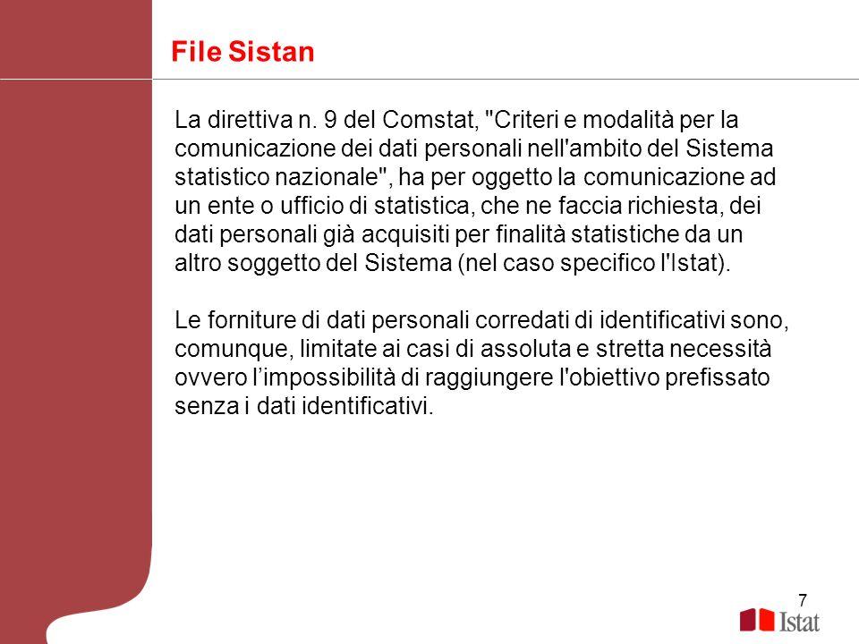 7 File Sistan La direttiva n. 9 del Comstat,