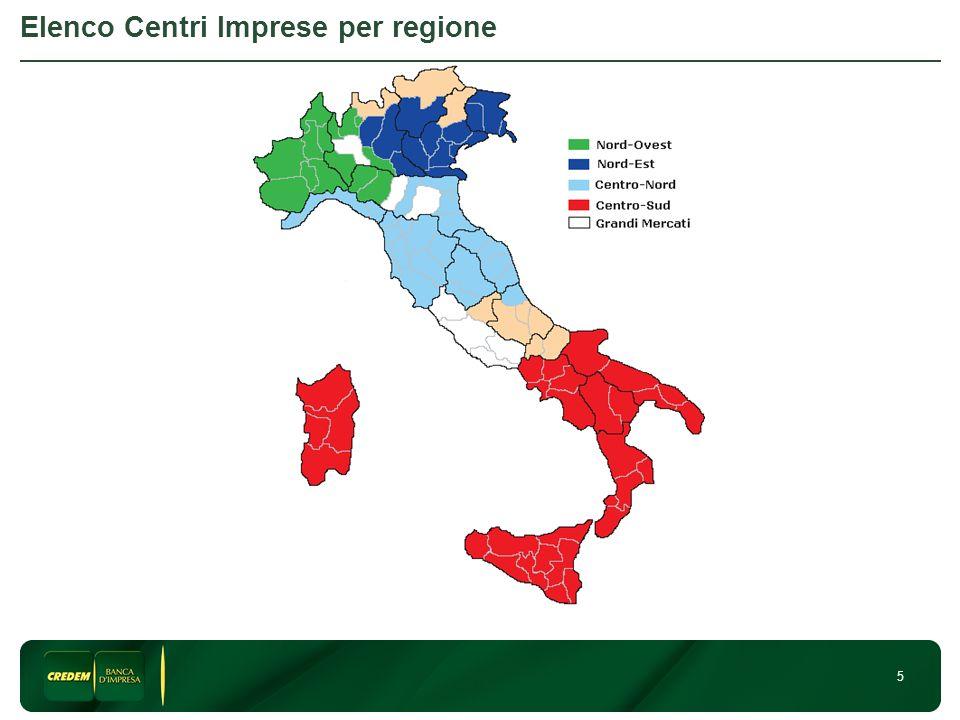 5 Elenco Centri Imprese per regione