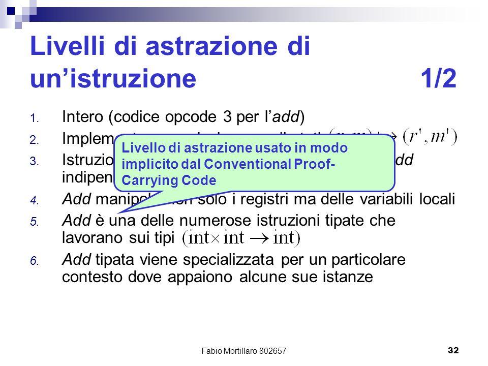 Fabio Mortillaro 80265732 Livelli di astrazione di unistruzione1/2 1.
