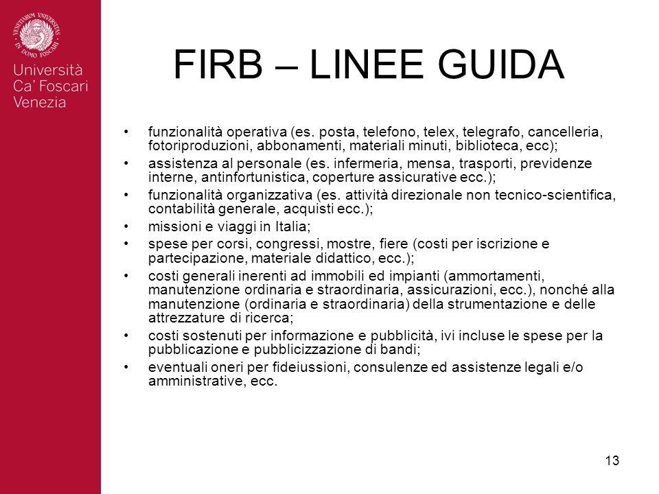 13 funzionalità operativa (es.