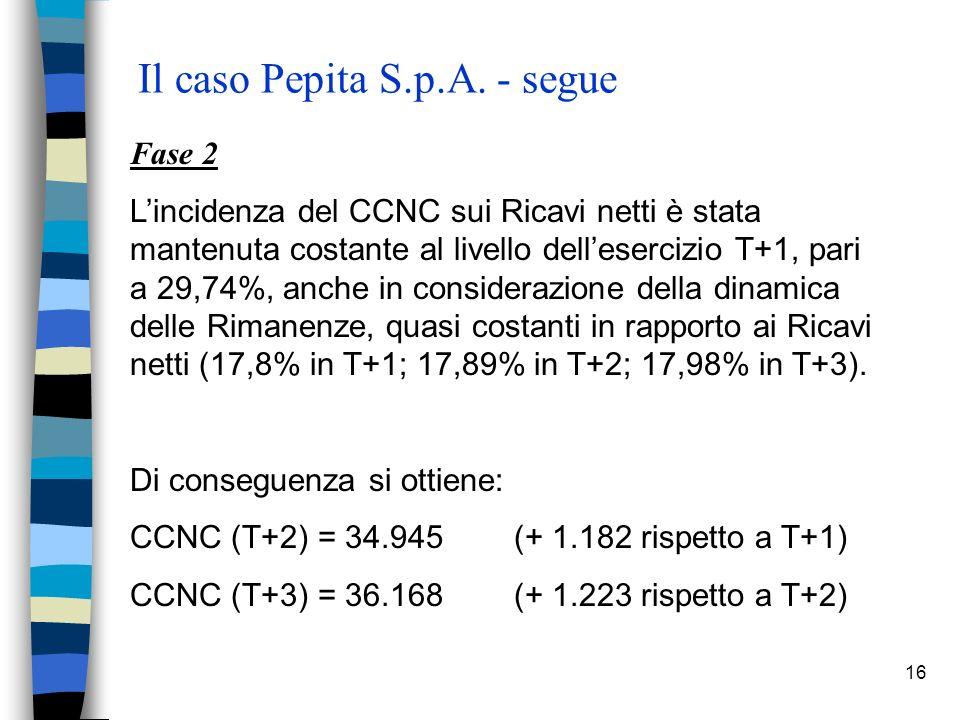 16 Il caso Pepita S.p.A.
