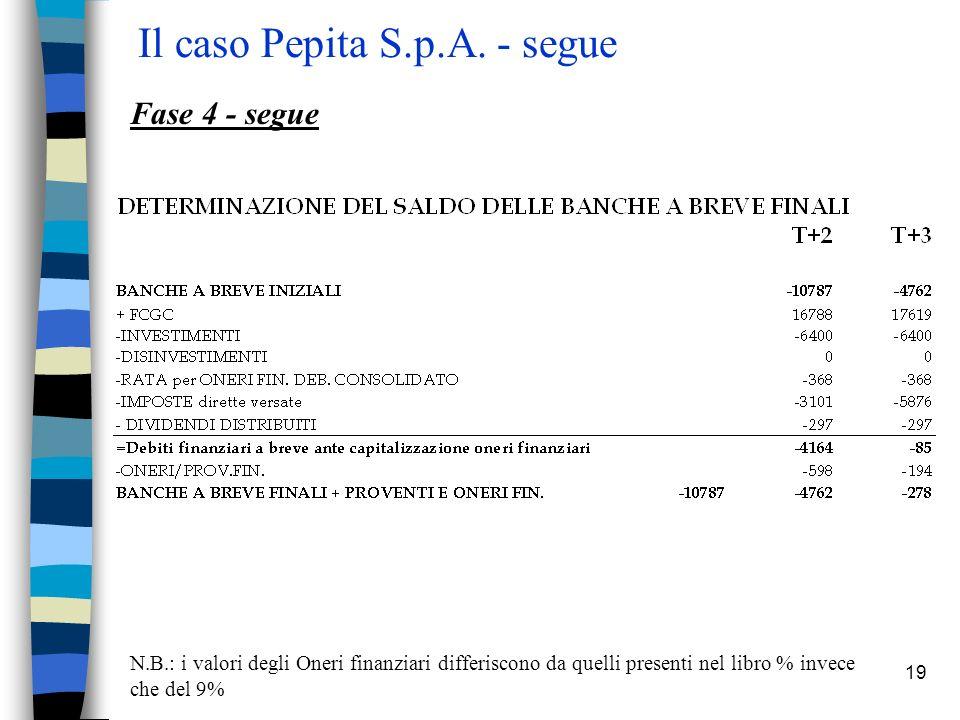 19 Il caso Pepita S.p.A.