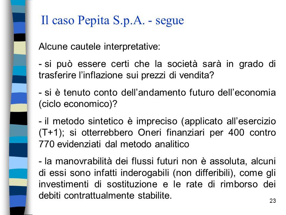 23 Il caso Pepita S.p.A.