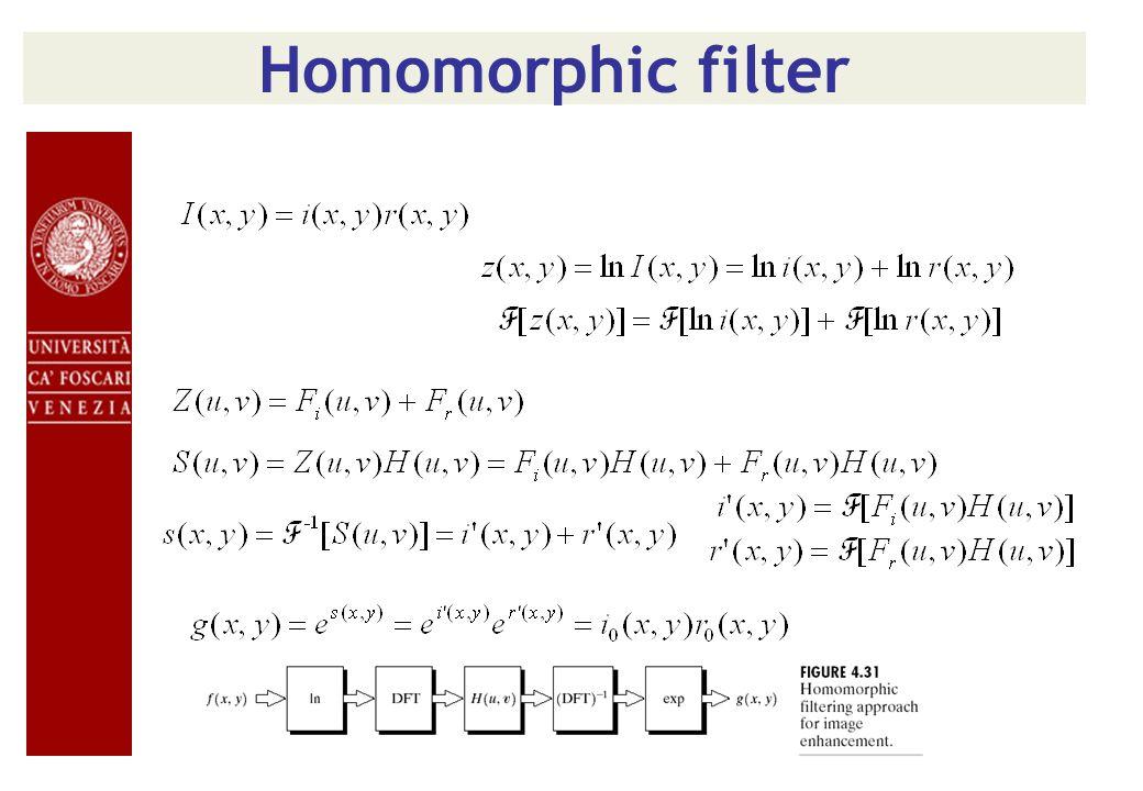 Homomorphic filter