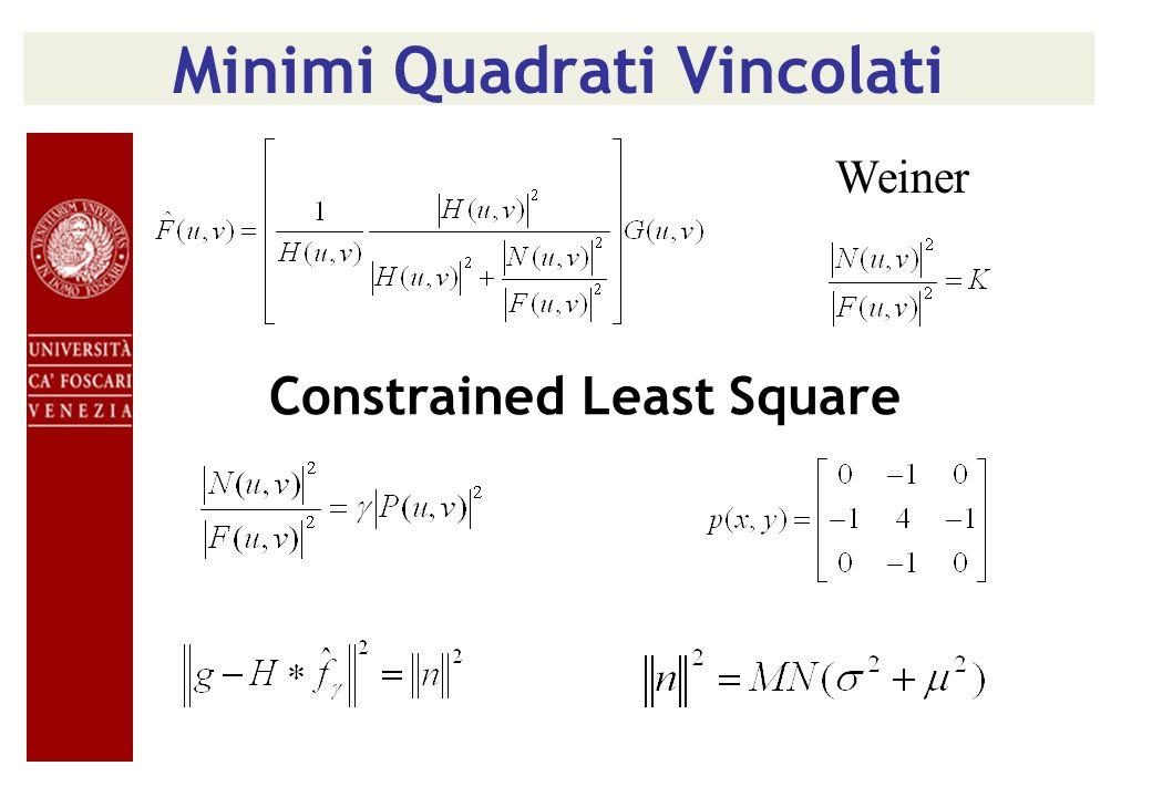 Minimi Quadrati Vincolati