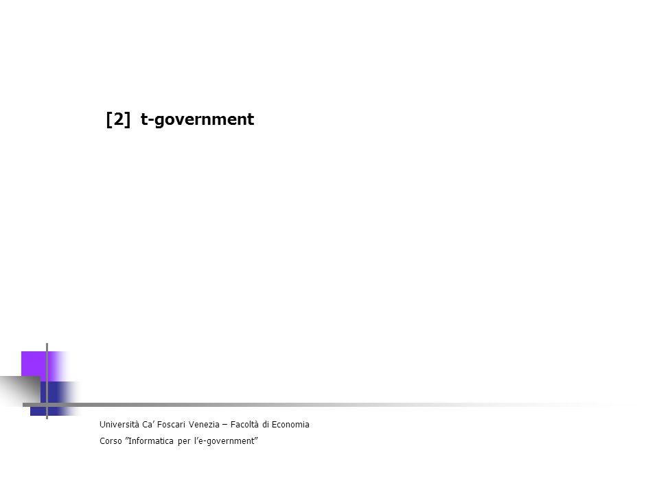 Università Ca Foscari Venezia – Facoltà di Economia Corso Informatica per le-government [6] il portale dei servizi del Comune di Venezia
