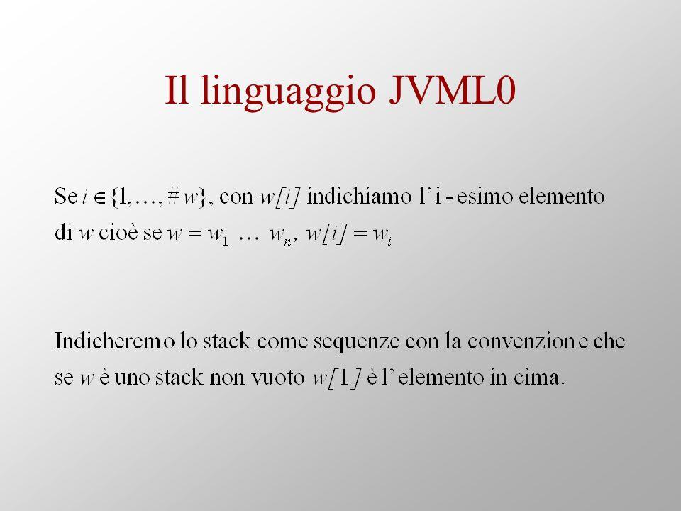 Il linguaggio JVML0
