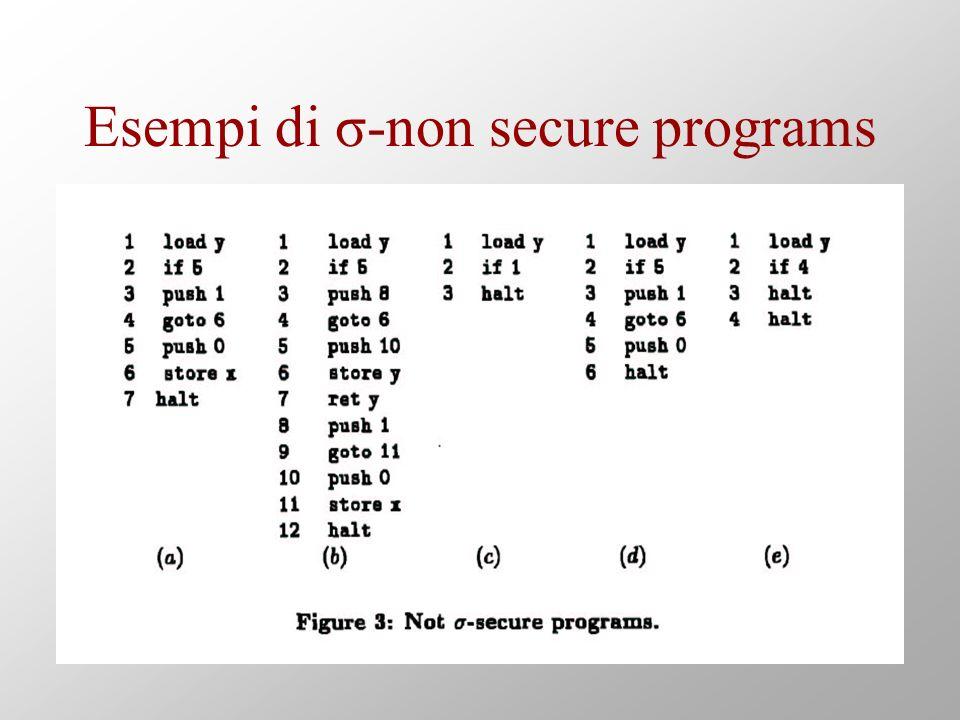 Esempi di σ-non secure programs