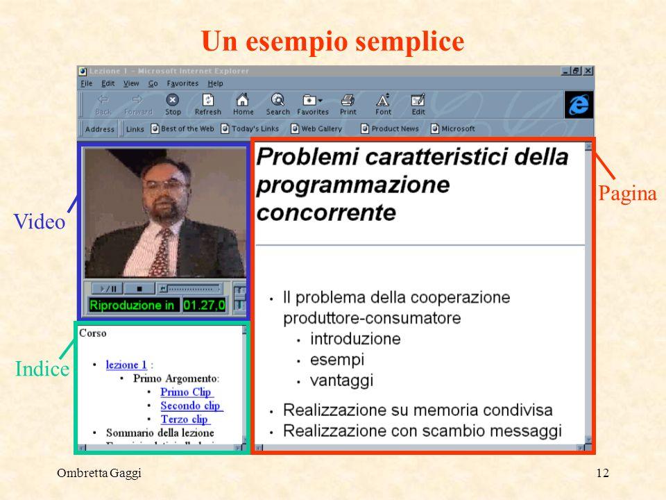 Ombretta Gaggi12 Un esempio semplice Pagina Video Indice