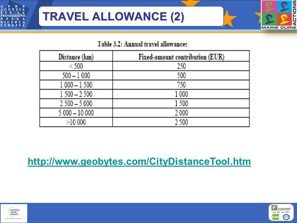 TRAVEL ALLOWANCE (2) http://www.geobytes.com/CityDistanceTool.htm