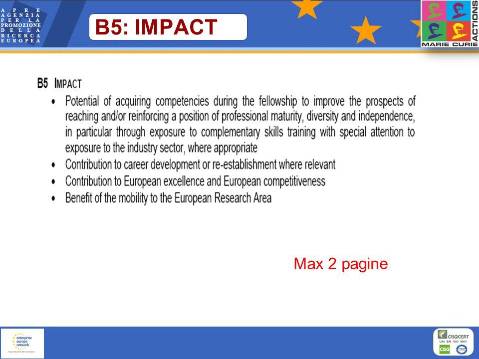 B5: IMPACT Max 2 pagine