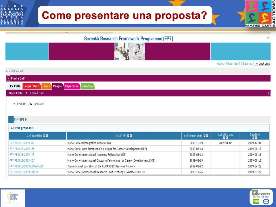 Scarica la Guide for Applicants Presentazione on-line Scarica il Work Programme