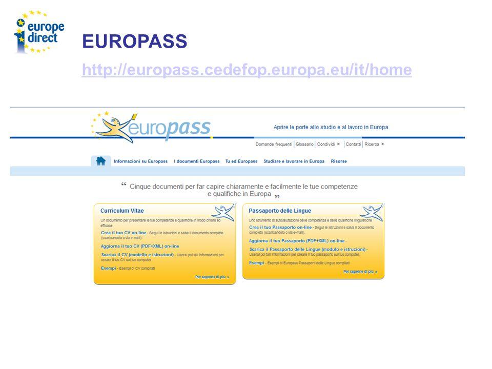 EUROPASS http://europass.cedefop.europa.eu/it/home