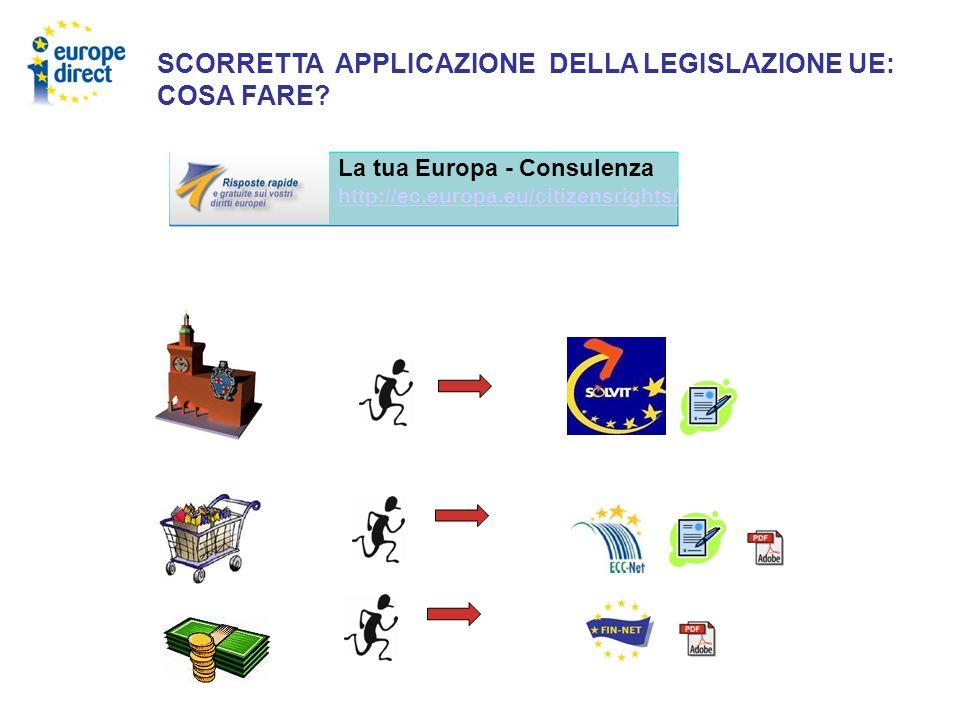 SCORRETTA APPLICAZIONE DELLA LEGISLAZIONE UE: COSA FARE? La tua Europa - Consulenza http://ec.europa.eu/citizensrights/