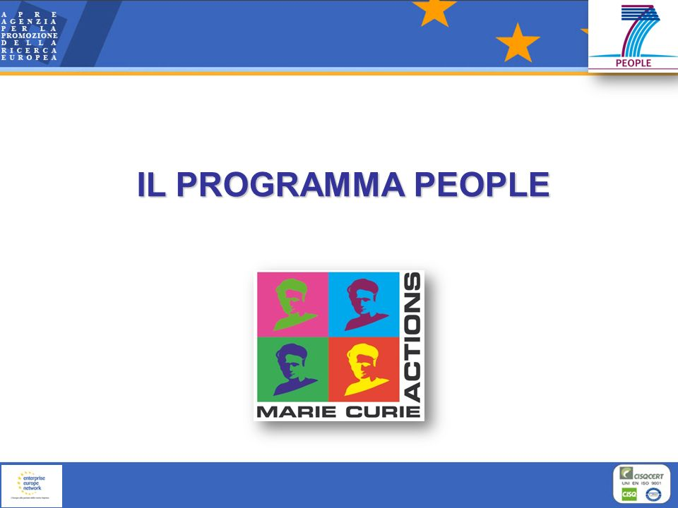 IL PROGRAMMA PEOPLE