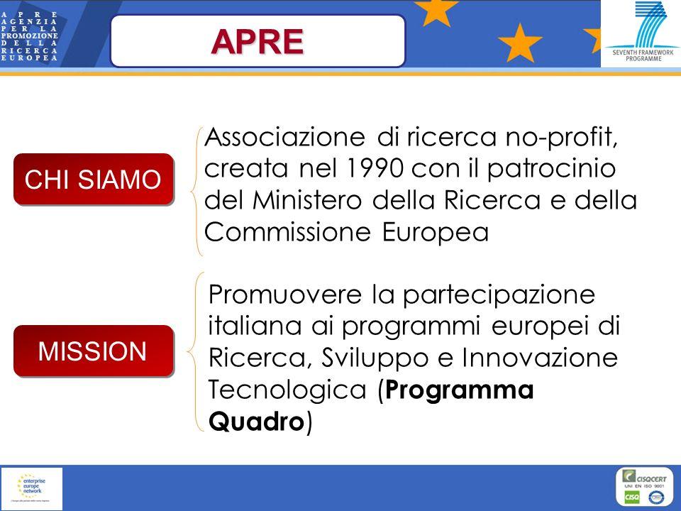 Associazione di ricerca no-profit, creata nel 1990 con il patrocinio del Ministero della Ricerca e della Commissione Europea Promuovere la partecipazi