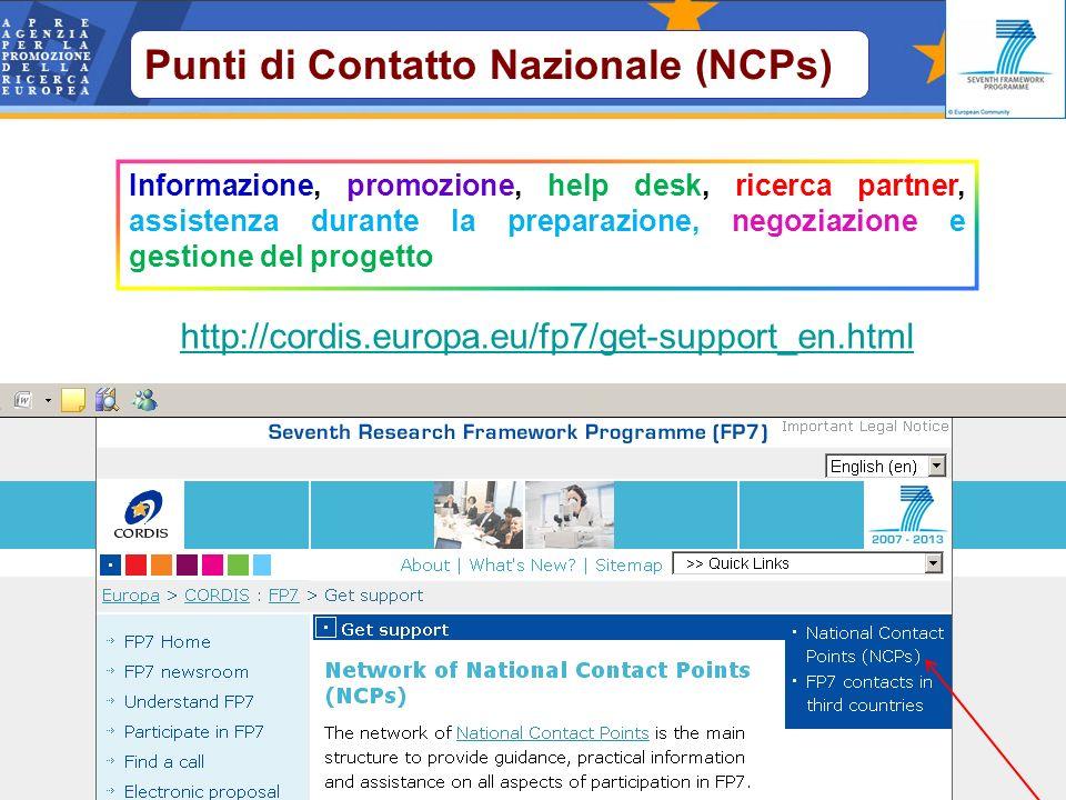 Informazione, promozione, help desk, ricerca partner, assistenza durante la preparazione, negoziazione e gestione del progetto http://cordis.europa.eu