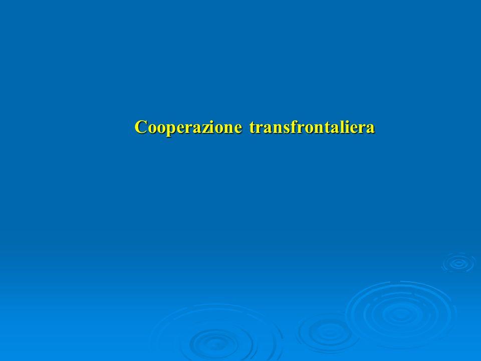 Cooperazione transfrontaliera Cooperazione transfrontaliera