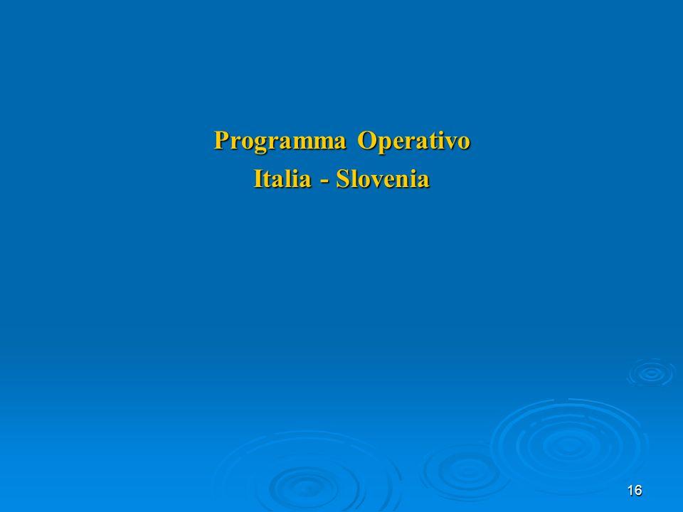 16 Programma Operativo Italia - Slovenia