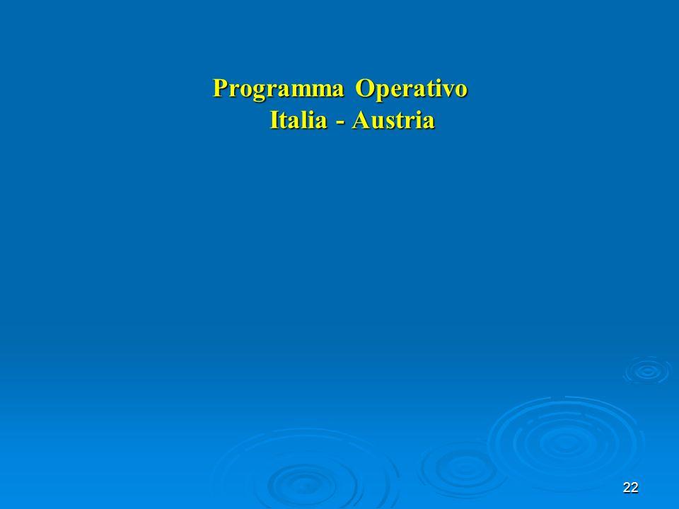 22 Programma Operativo Italia - Austria