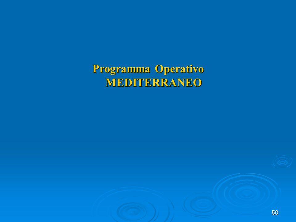 50 Programma Operativo MEDITERRANEO