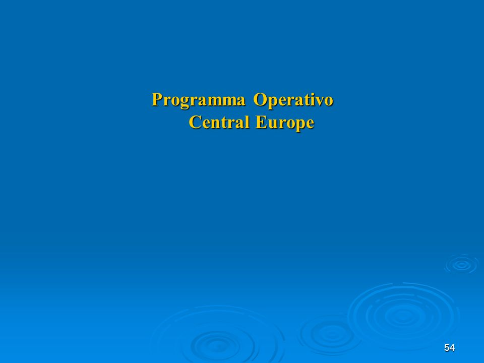 54 Programma Operativo Central Europe