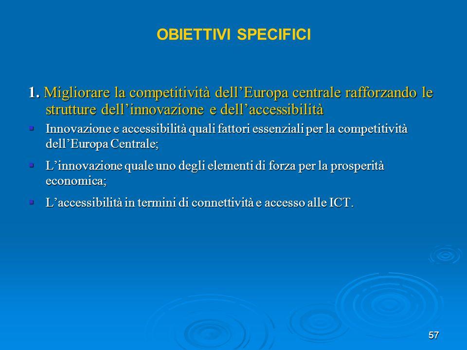 57 OBIETTIVI SPECIFICI 1.