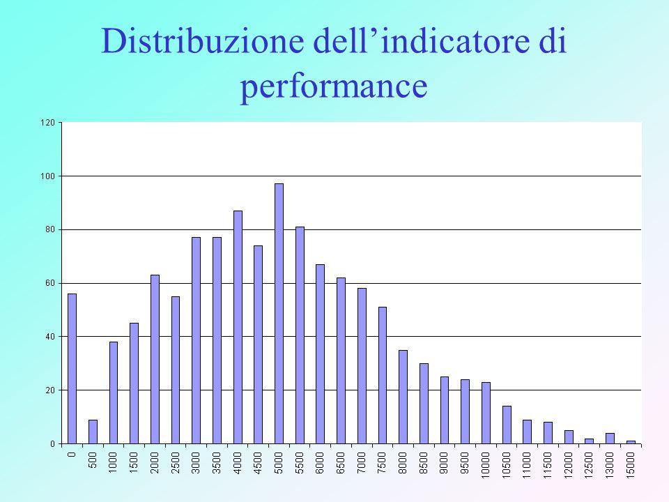 Distribuzione dellindicatore di performance