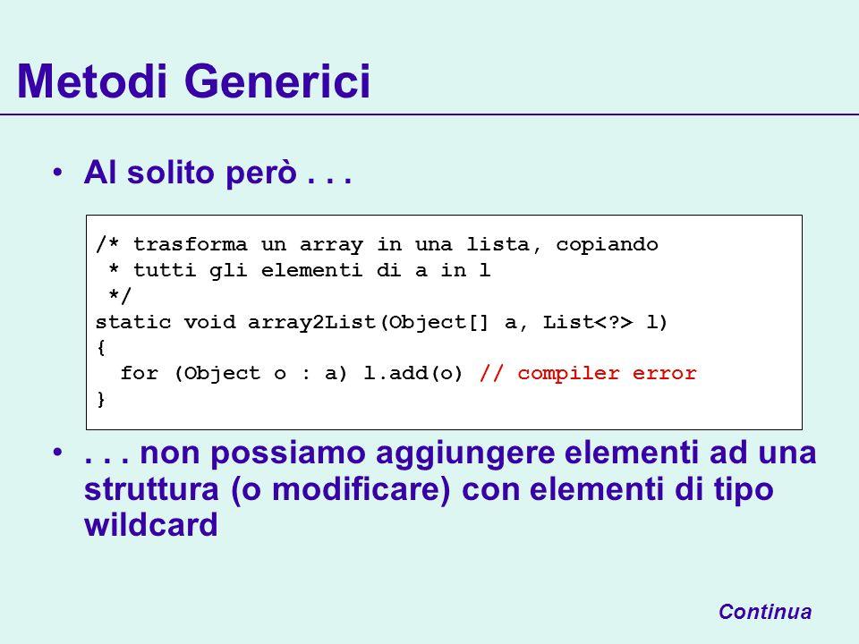 Metodi Generici Al solito però......