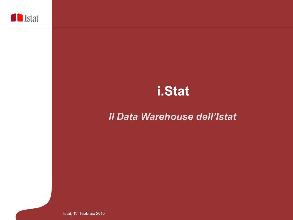 Il Data Warehouse dellIstat i.Stat Istat, 18 febbraio 2010