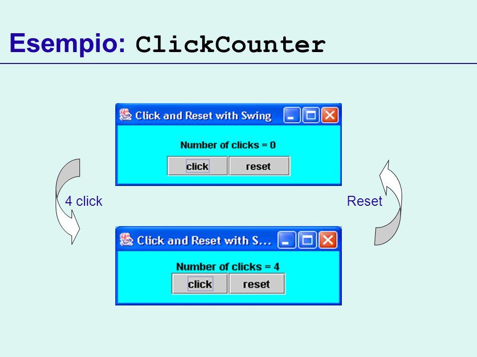 Esempio: ClickCounter 4 clickReset