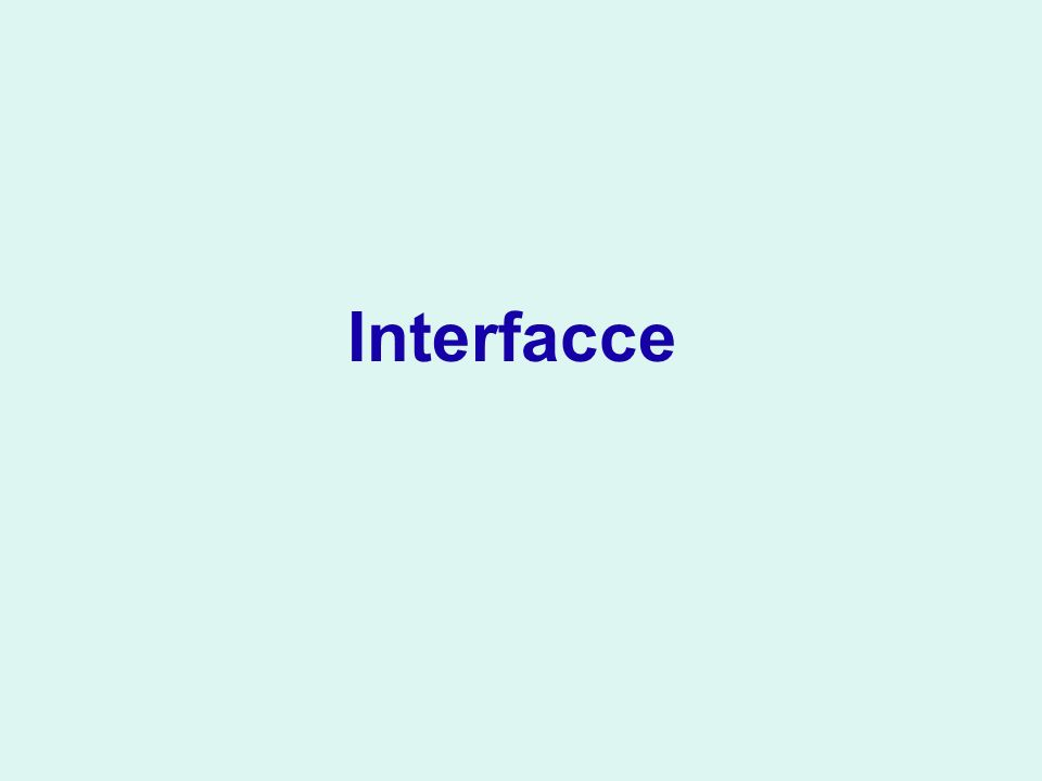 Interfacce
