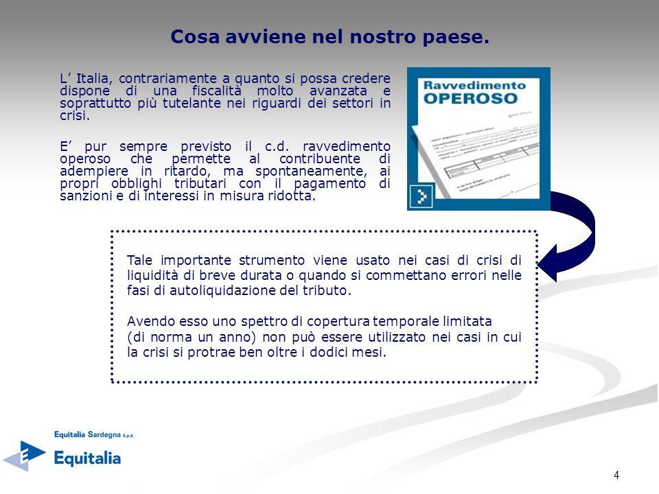 4 Cosa avviene nel nostro paese. L Italia, contrariamente a quanto si possa credere dispone di una fiscalità molto avanzata e soprattutto più tutelant